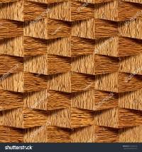 Decorative Wooden Bricks 3d Wallpaper Interior Stock ...