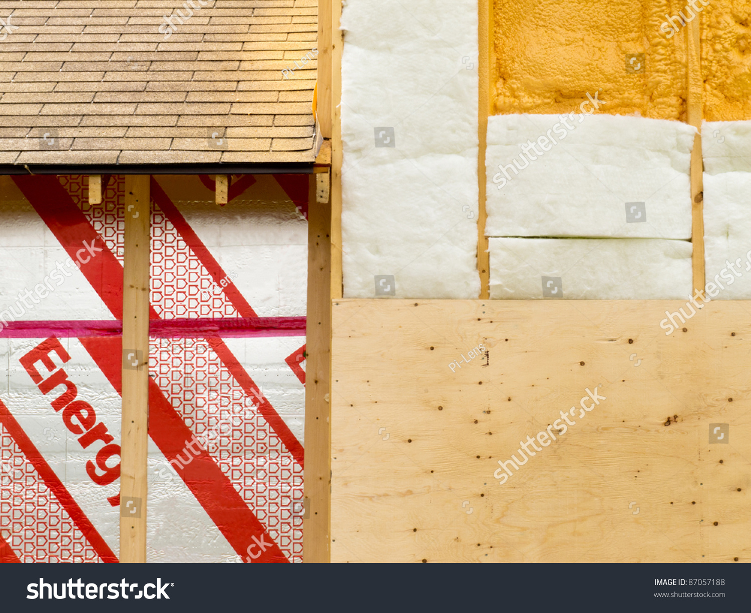 Different Types Of Foam Different Types Building Insulation Rigid Extruded Stock Photo