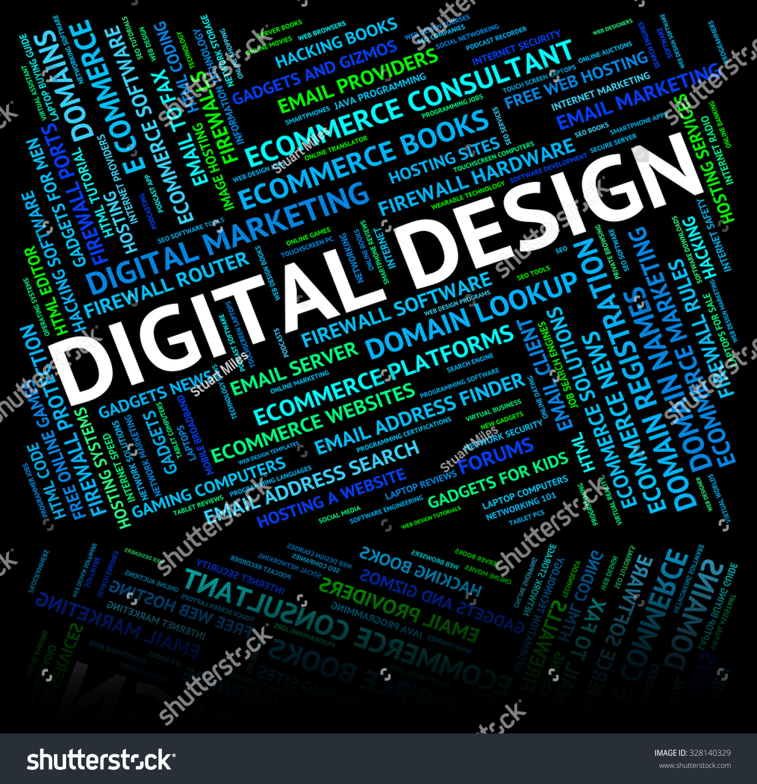 Design Digital Digital Design Meaning High Tec And Designed Stock Photo