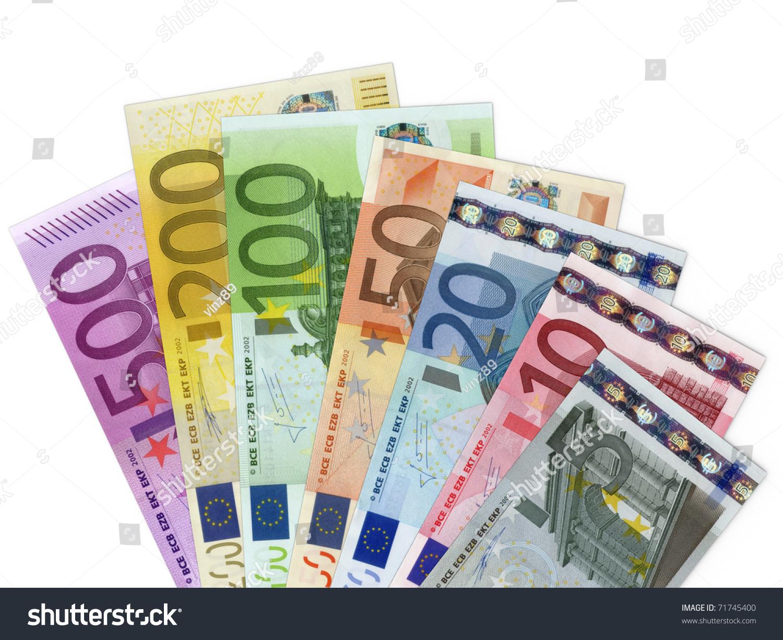 Wallpaper Art Falling Euro Money Banknotes Stock Illustration 71745400