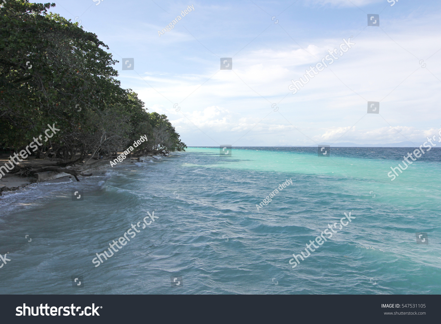Tourism Destinations Excellence Coastal Tourism Destinations Indonesia Stock Photo