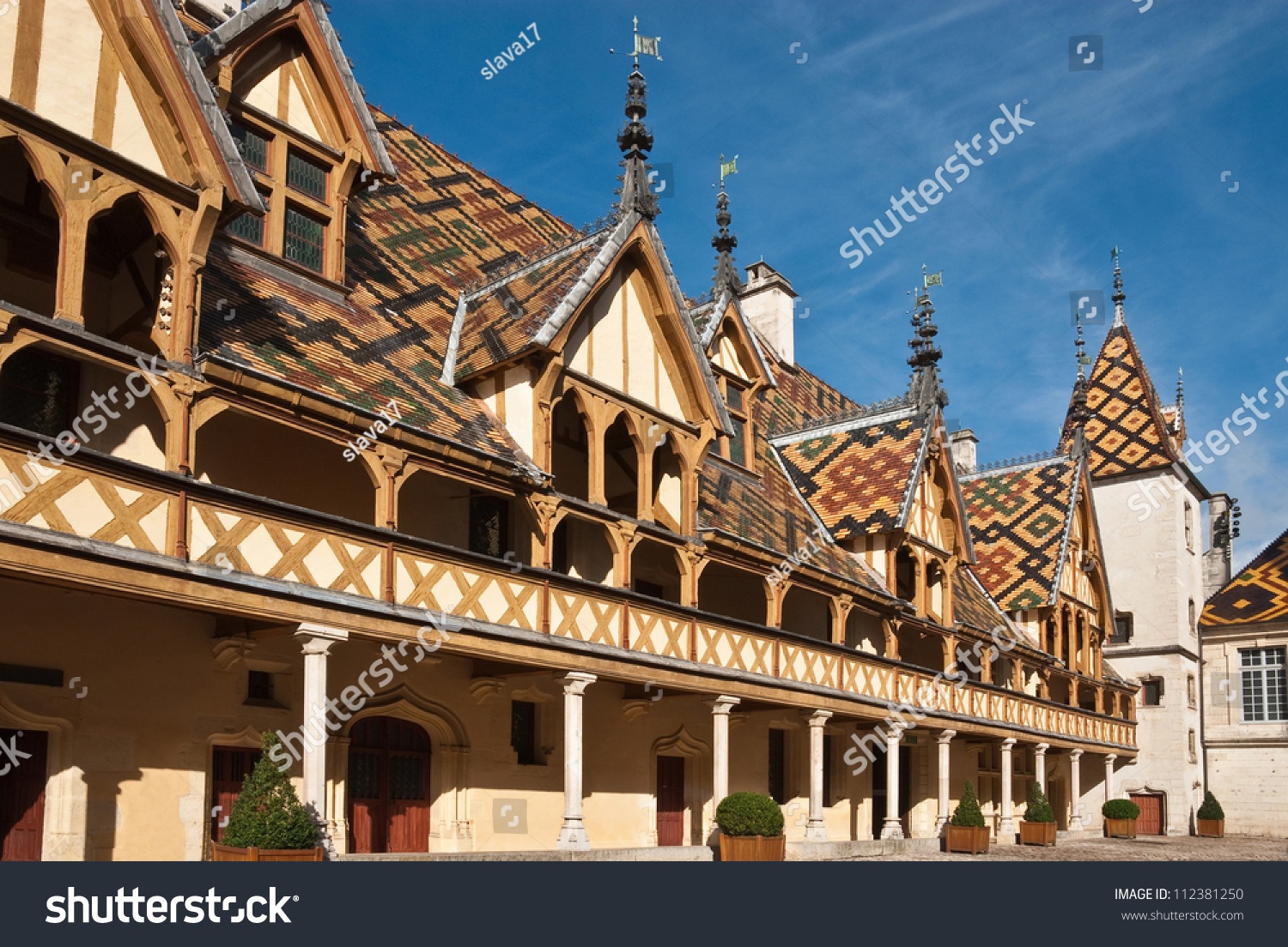 Beaune Hotel Famous Hospice Hotel Dieu Beaune France Stock Photo Edit Now