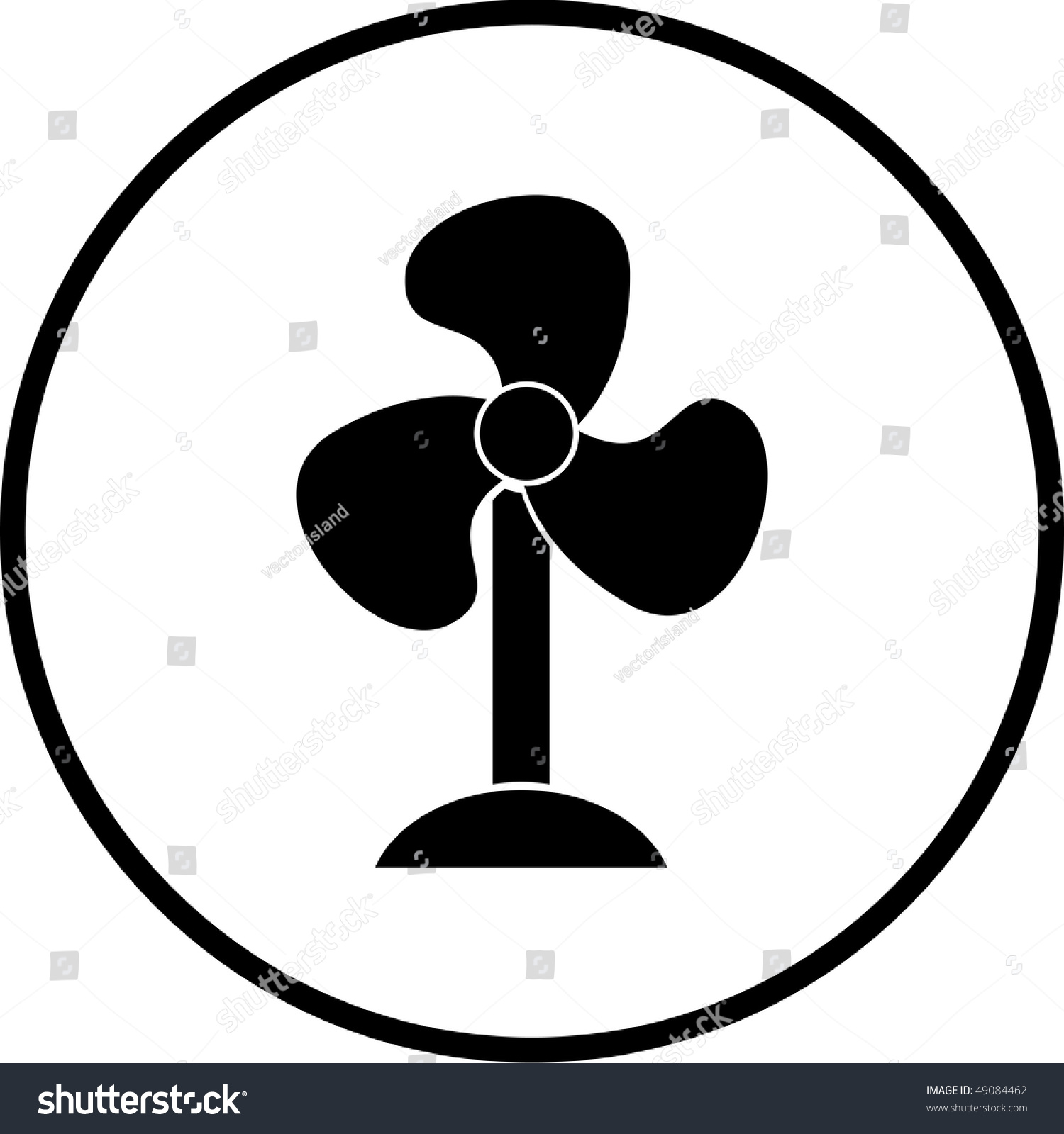 Symbool Ventilator Fan Symbol Stock Photo 49084462 Shutterstock