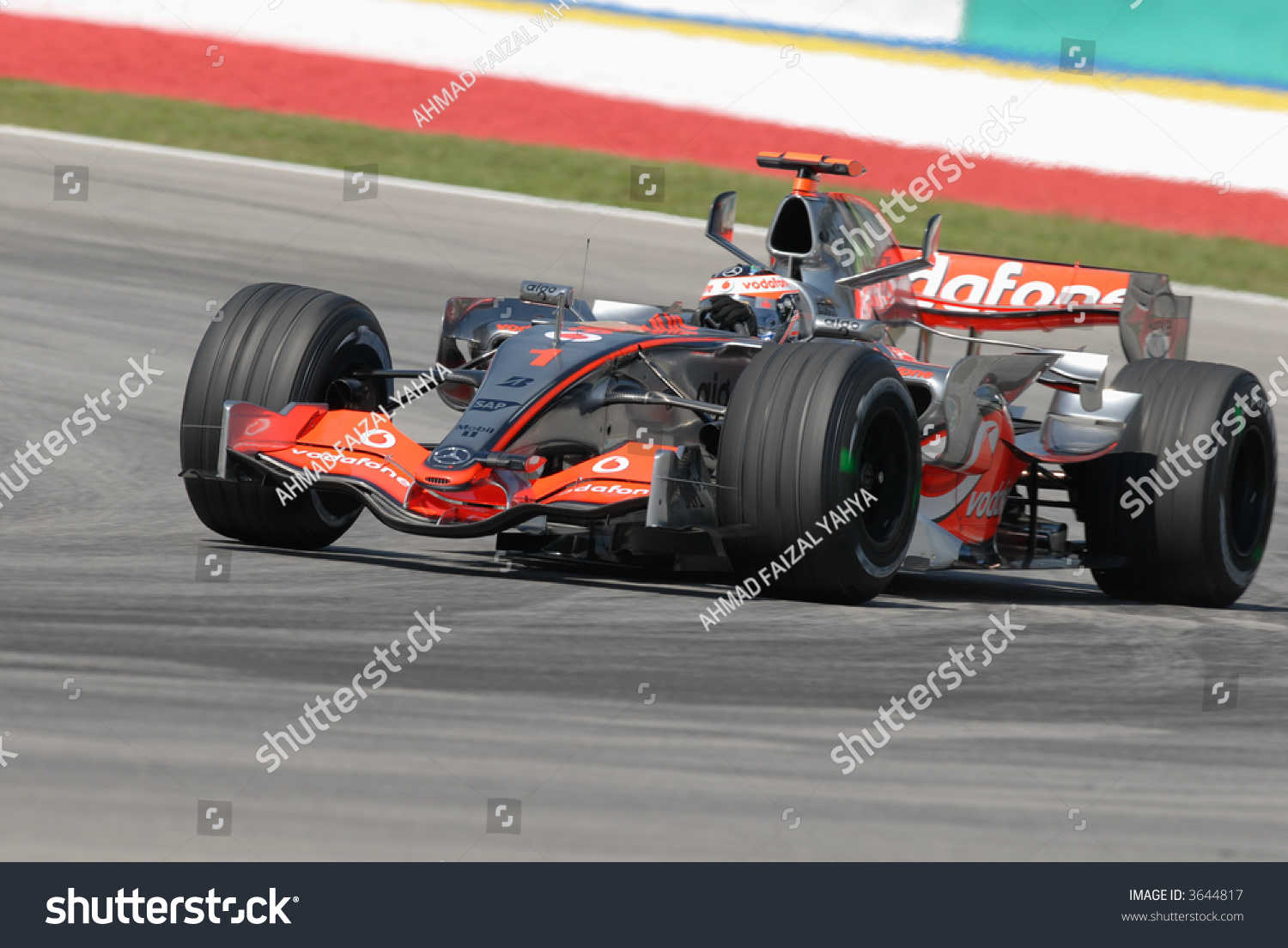 Fernando Alonso F1 Grand Prix Fernando Alonso Negotiating Turn Sepang F 1 Stock Photo Edit Now