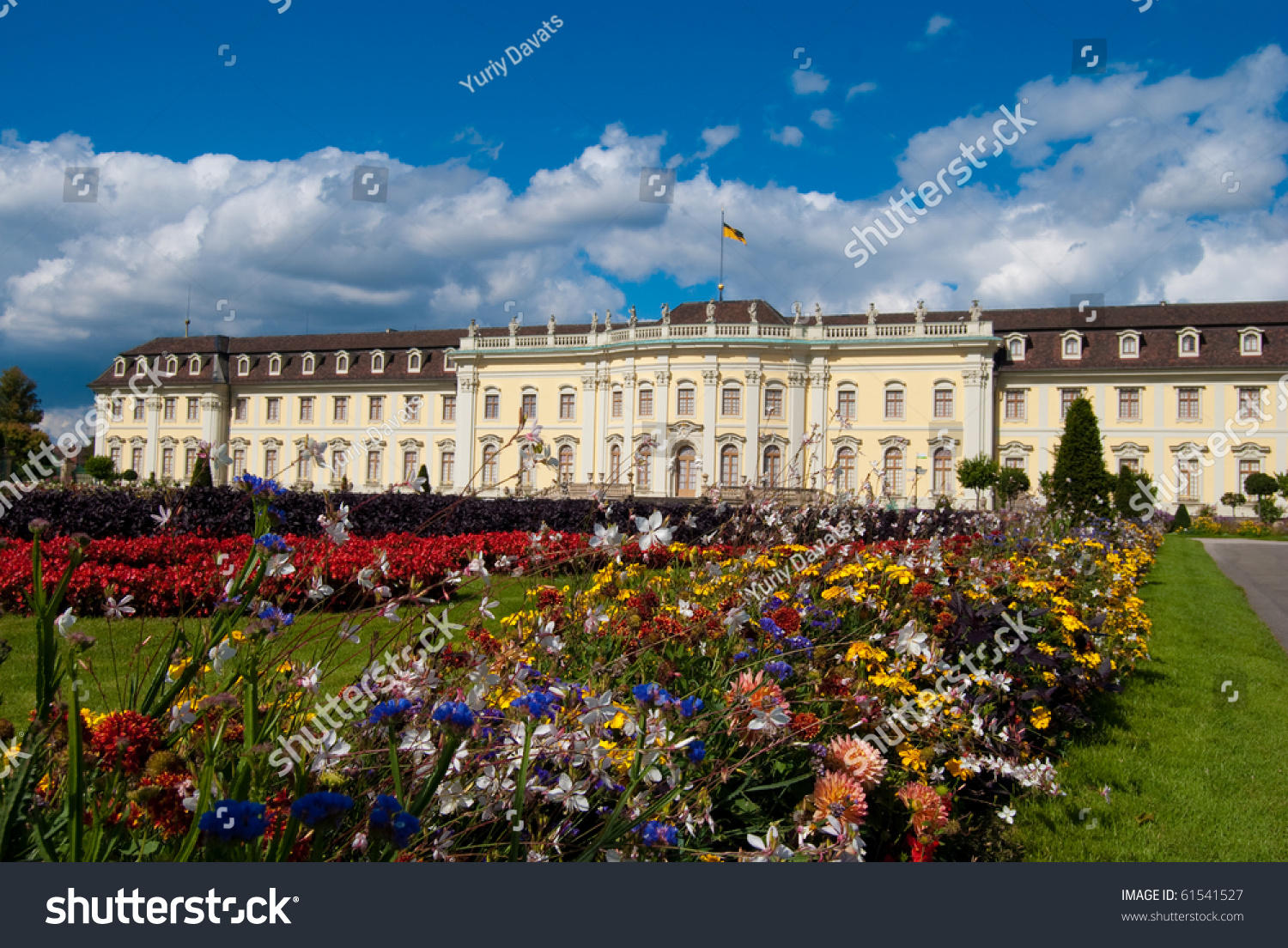 Stuttgart Ludwigsburg Flowers In Front Of The Royal Palace In Stuttgart