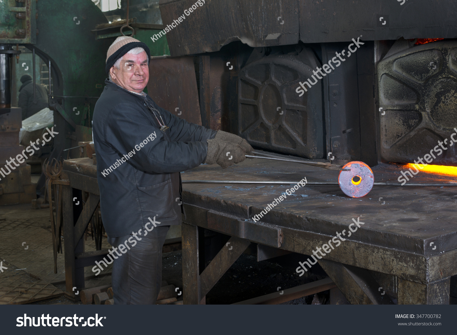 Industrial Forging Forging Metal Forge Old Industrial Stock Photo Edit Now