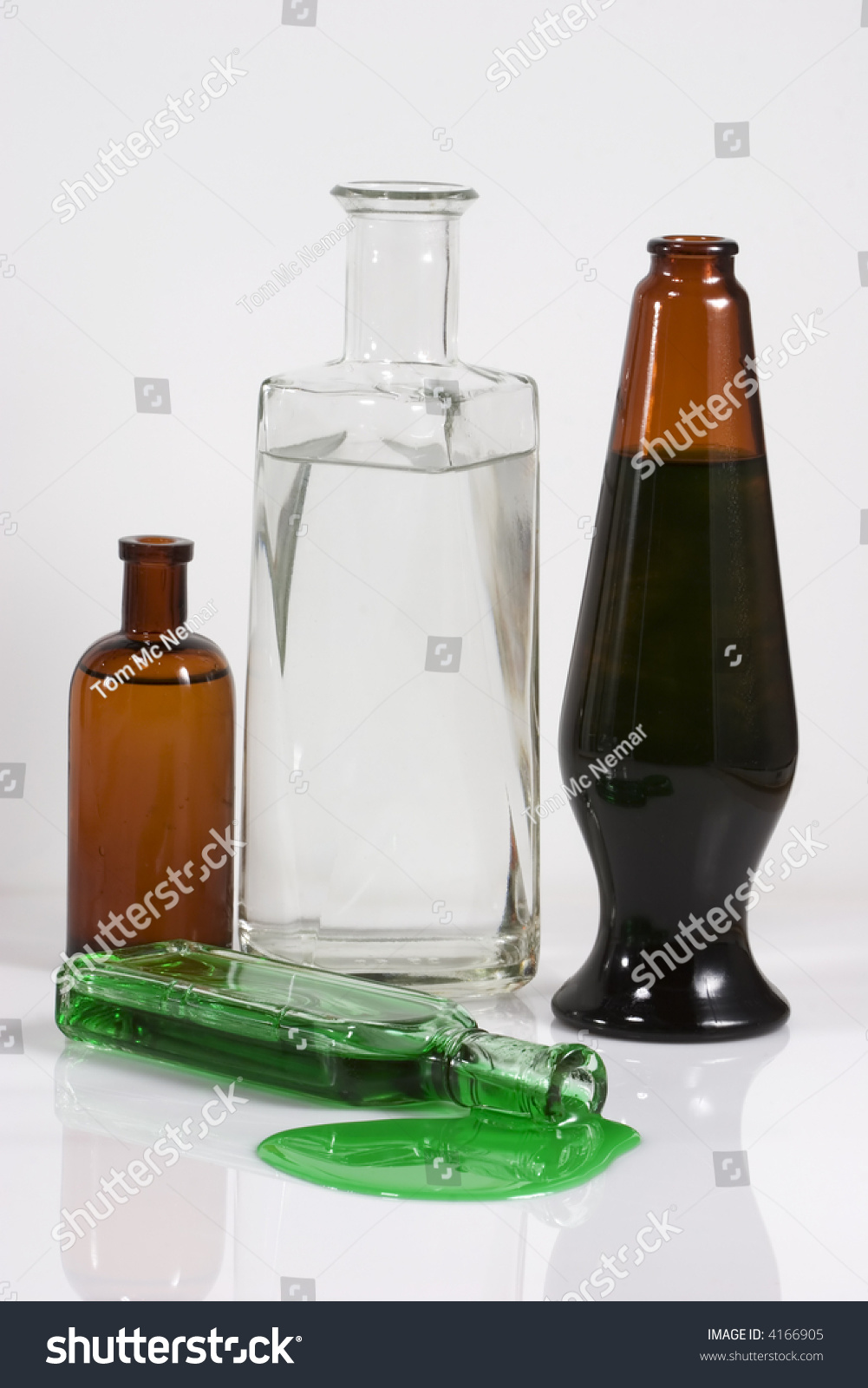 Interesting Bottles Four Old Glass Bottles Interesting Shapes Stock Photo Edit Now