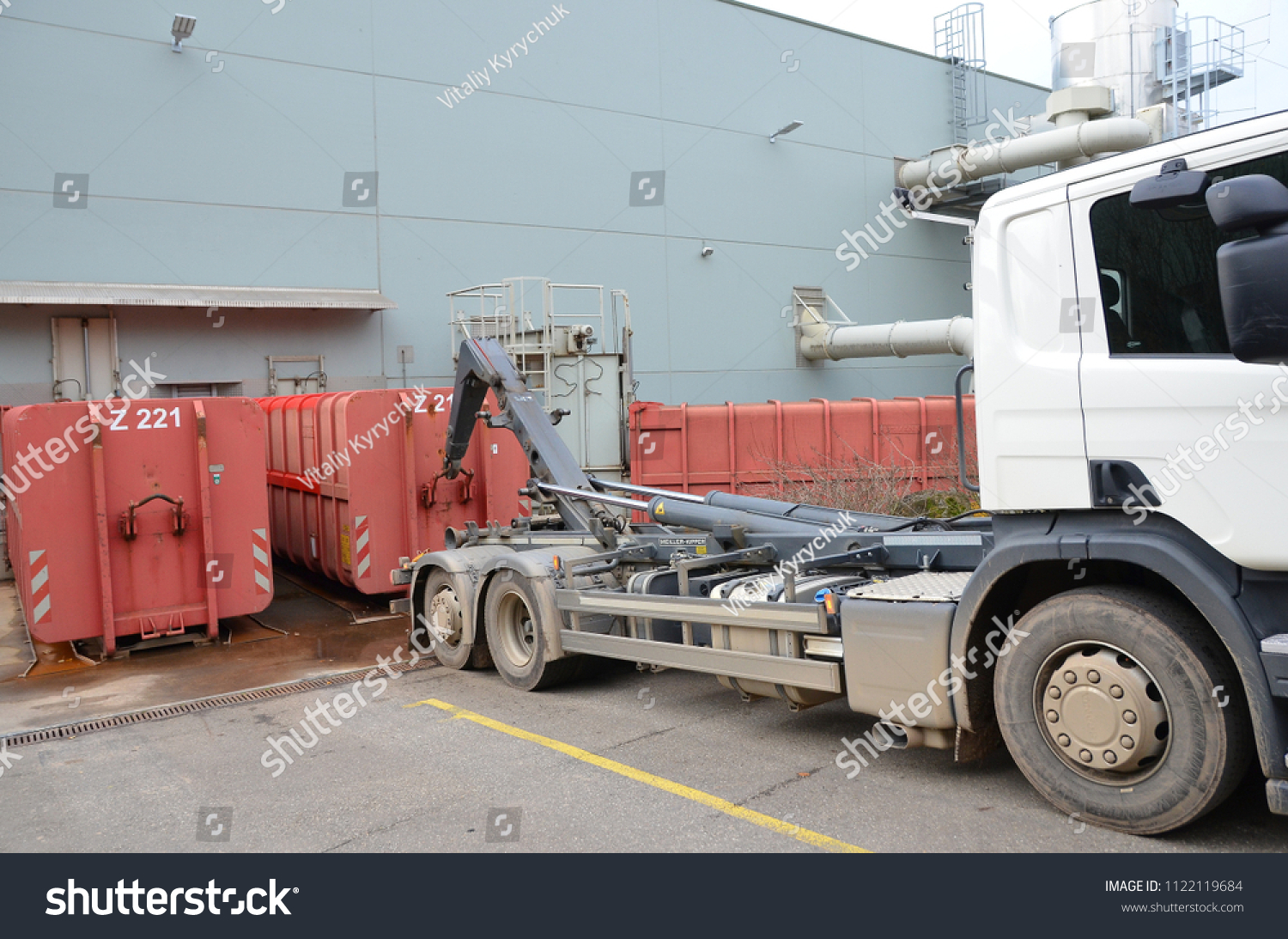 Container Freiburg Freiburg Germany November 27th 2017 Truck Stock Photo Edit Now