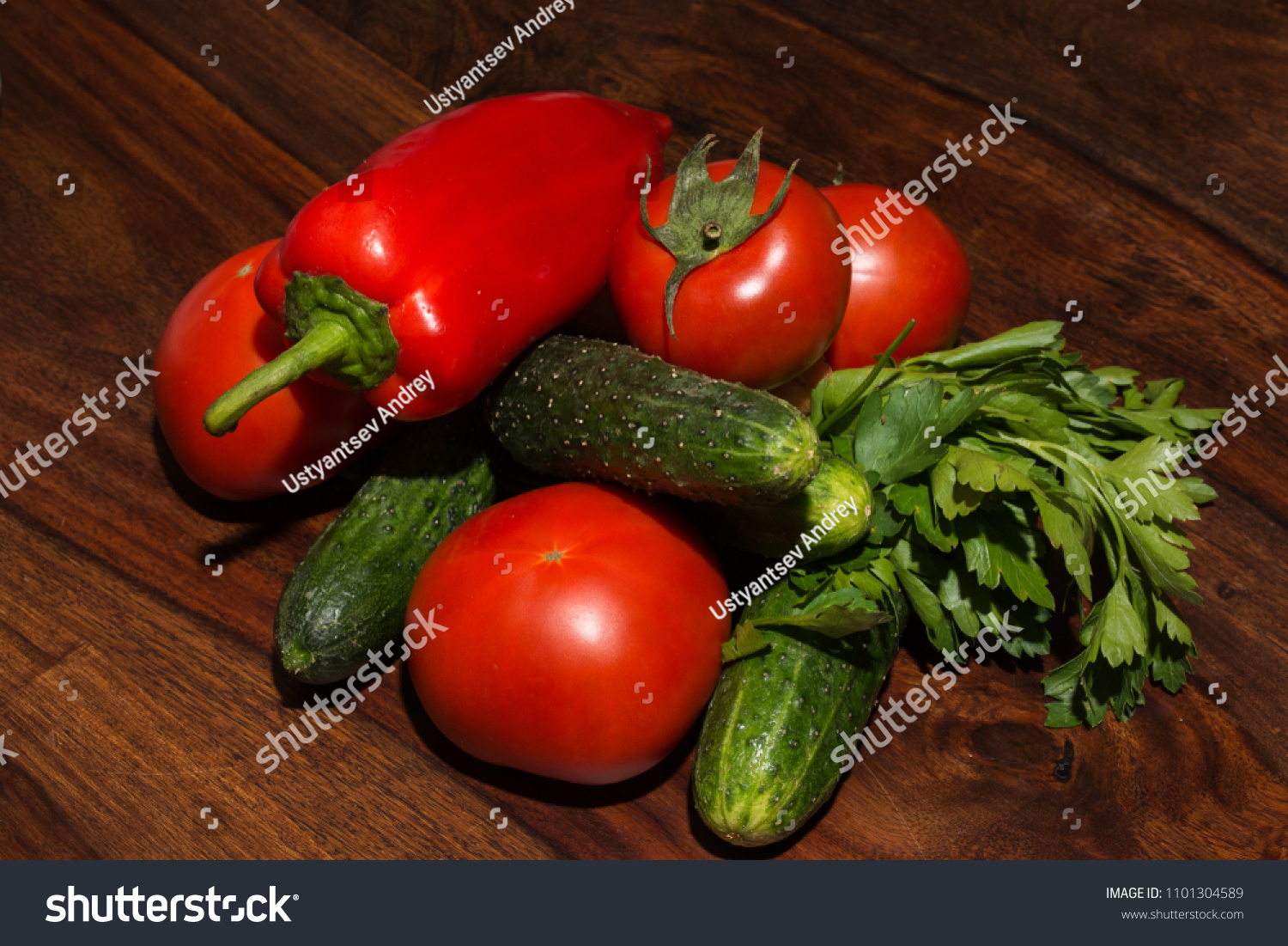 Tomato Wuppertal Fresh Pepper Cucumbers Tomatoes Celery On Stock Photo Edit Now