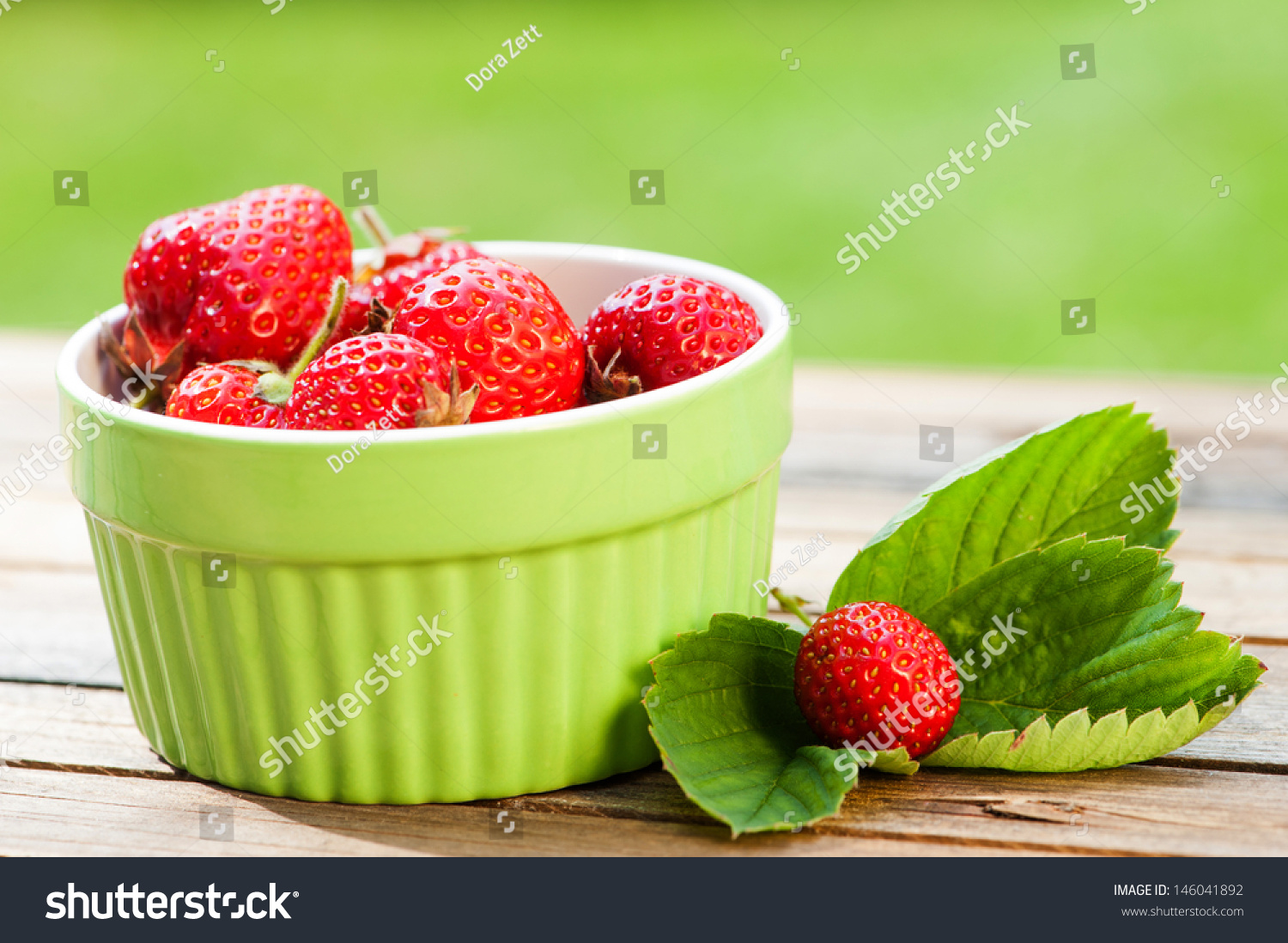 Colorful Fruit Bowl Fresh Strawberries In Colorful Fruit Bowl Stock Photo