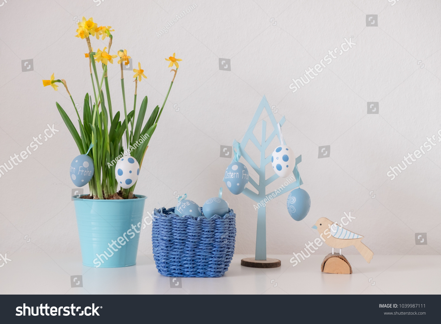 Living At Home Ostern Frohe Ostern Means Happy Easter German Stock Photo Edit Now