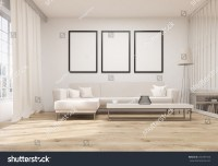 Front View Living Room Interior Wooden Stock Illustration ...