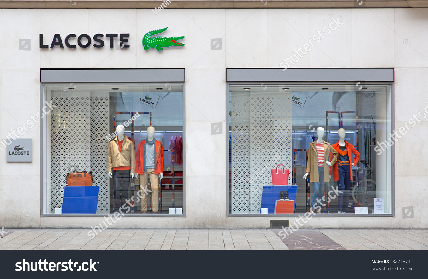 24 Outlet Geneva March 24 Retail Outlet Lacoste Stock Photo