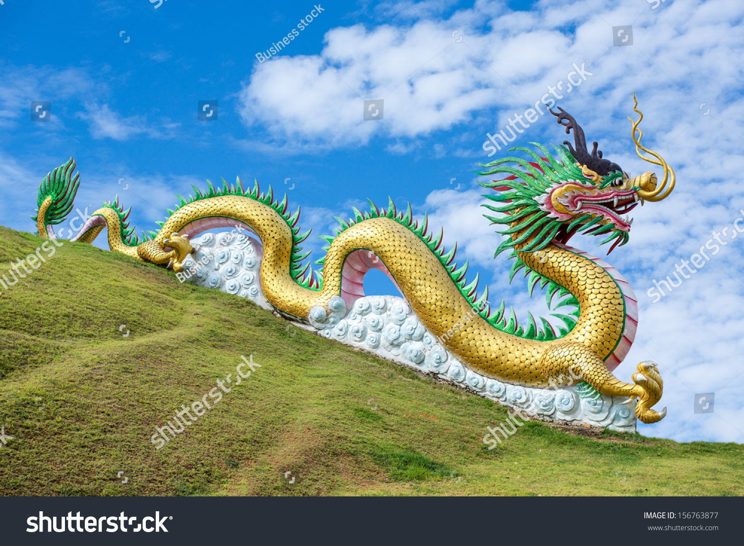 Giant Dragon Statue Giant Chinese Style Dragon Statue On Stock Photo Edit Now