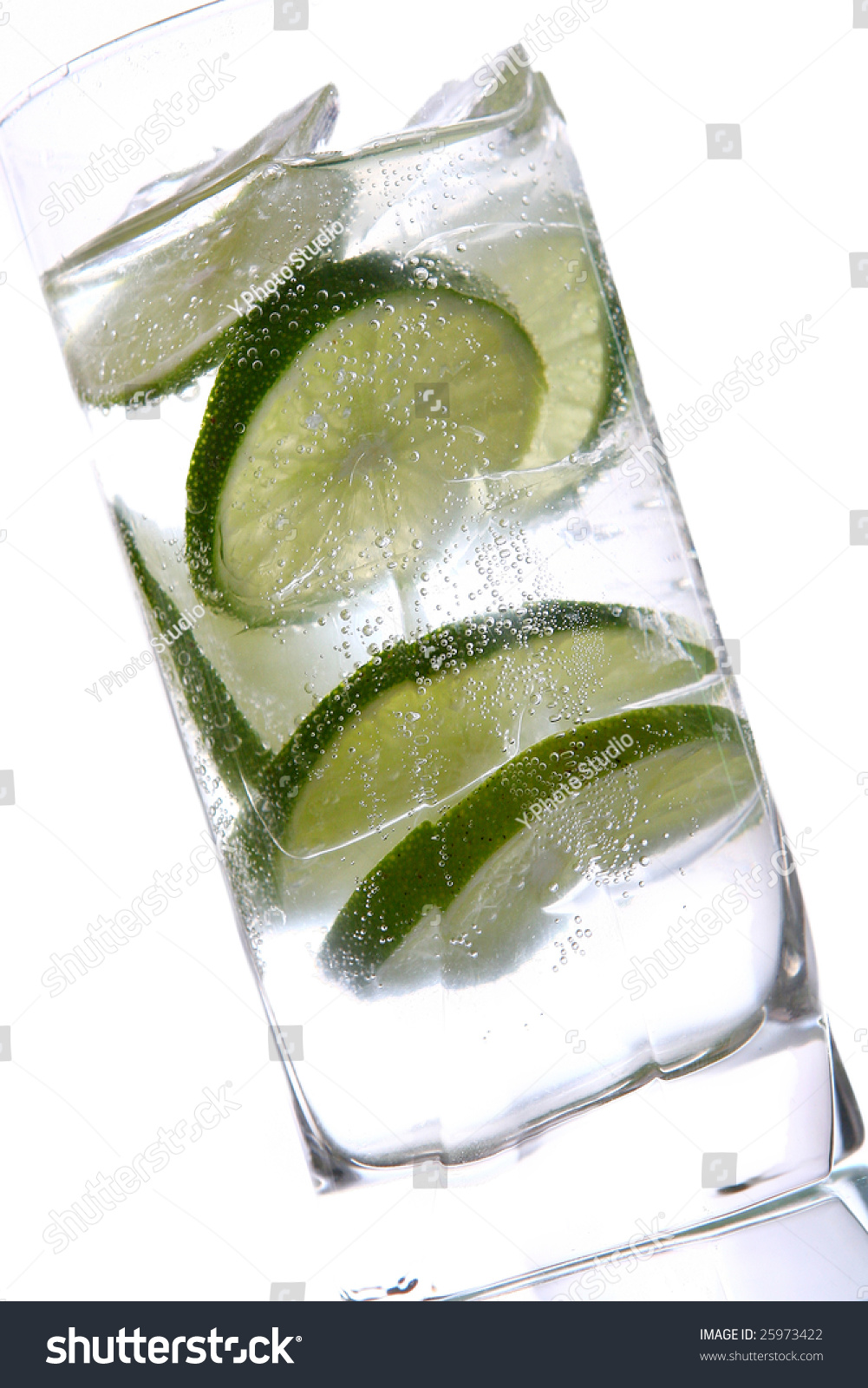 Mojito Glas Glas Water Ice Lime Stock Photo Edit Now 25973422 Shutterstock