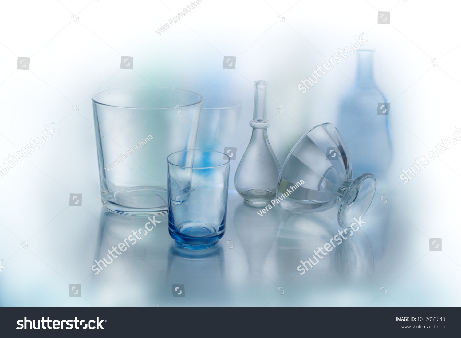 Interesting Bottles Glass Vases Bottles Interesting Lying On Stock Photo Edit Now