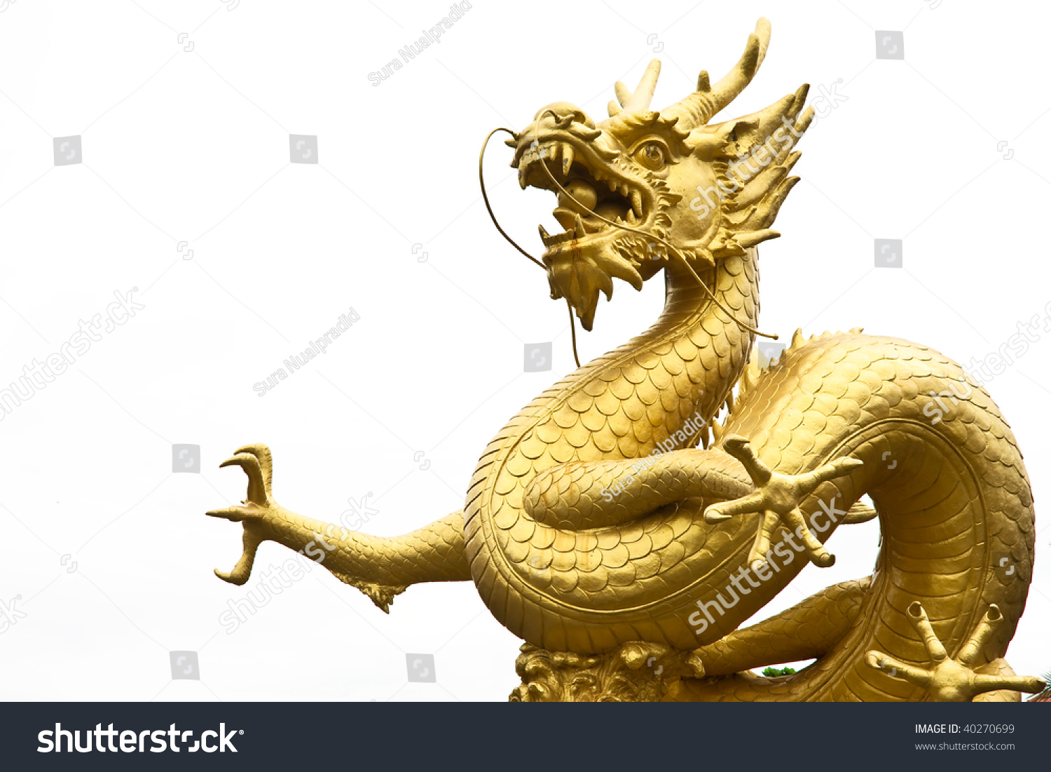 Giant Dragon Statue Golden Gragon Statue Stock Photo 40270699 Shutterstock