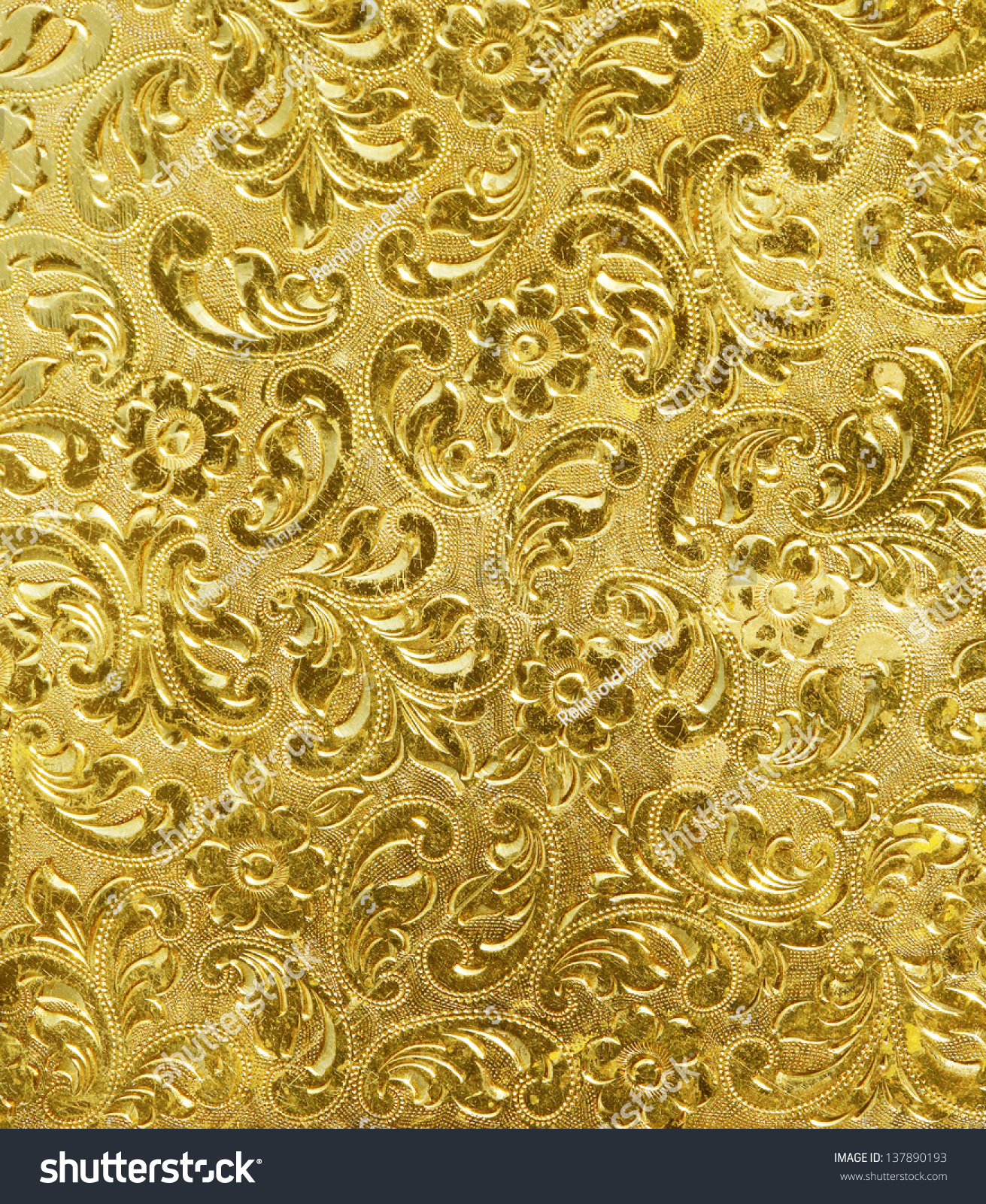 3d Stone Style Wallpaper Golden Metal Texture Used Background Stock Photo 137890193