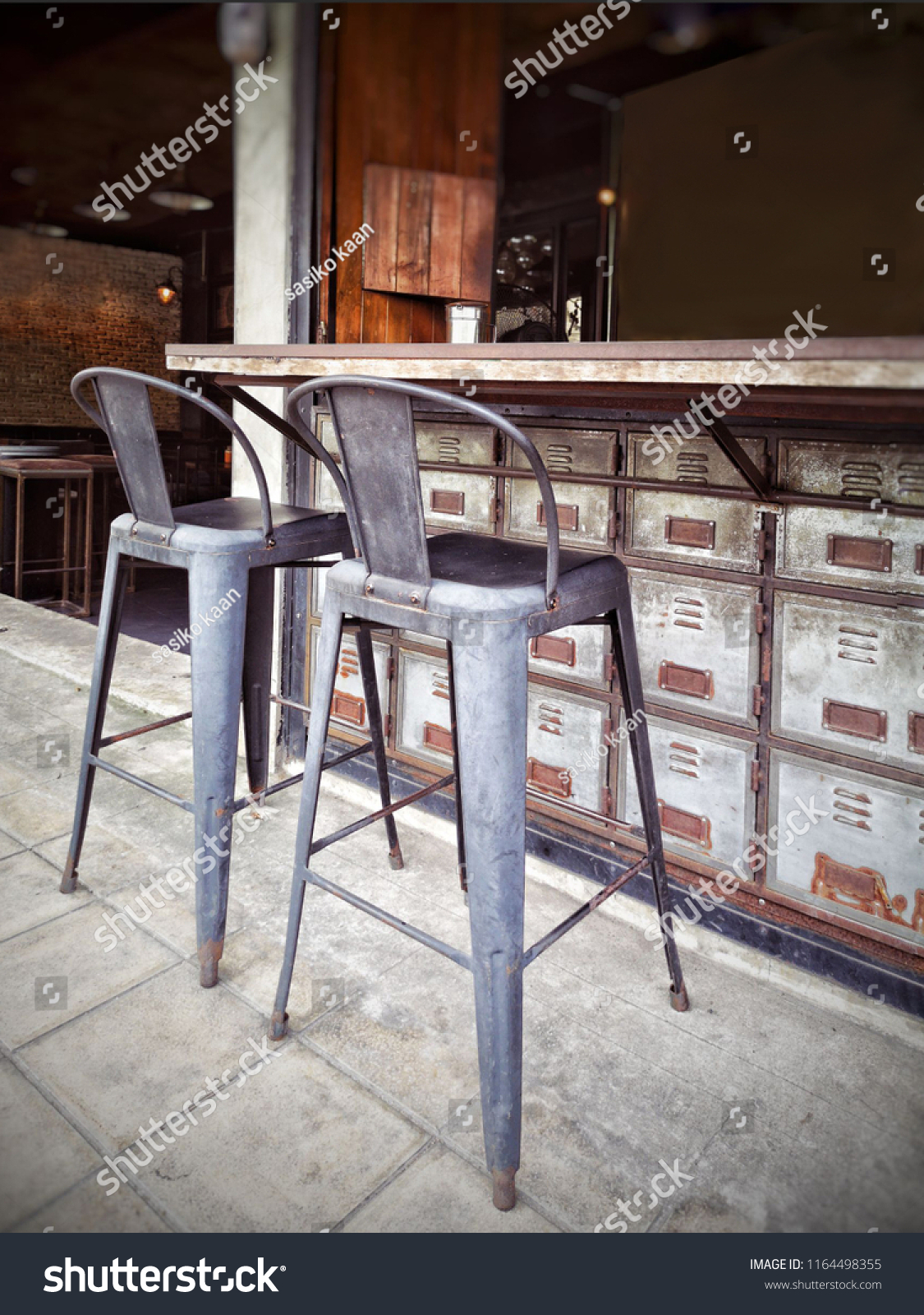 Rustic Style Bar Grunge Rustic Style Counter Bar Coffee Stock Photo Edit Now