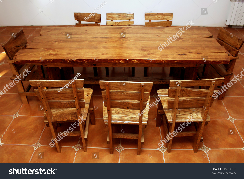 stock photo handmade large kitchen table large kitchen tables Handmade large kitchen table