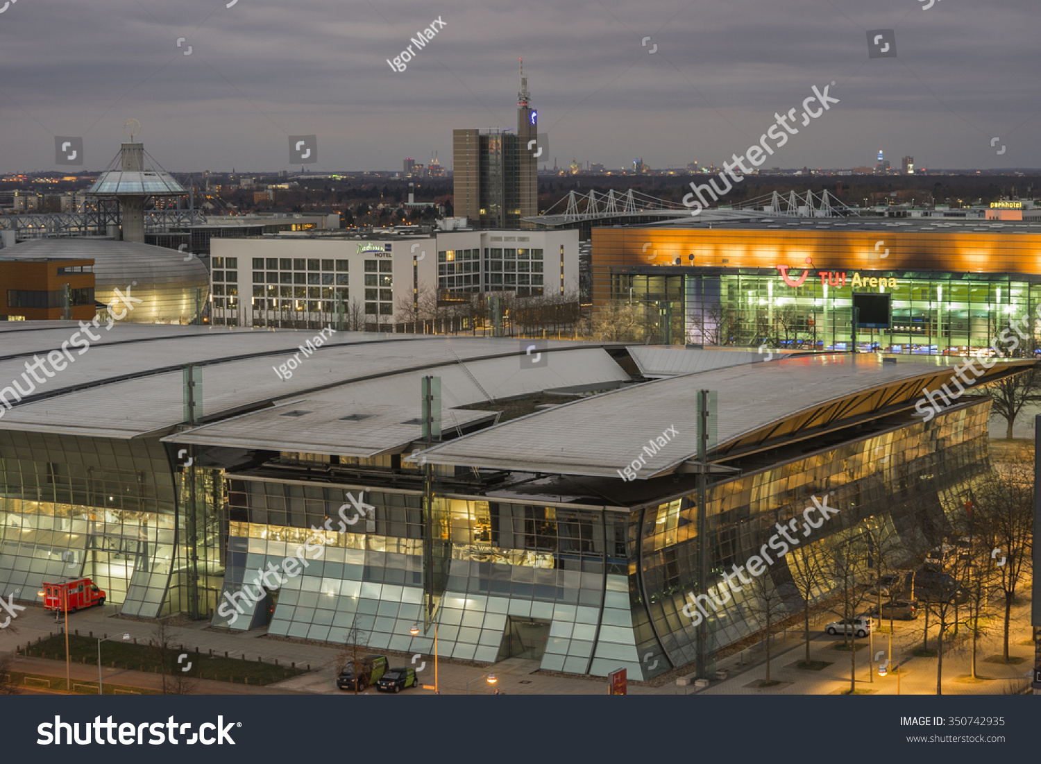 Expo Plaza Hannover Hannover Germany December 06 2015 Expo Stock Photo Edit Now