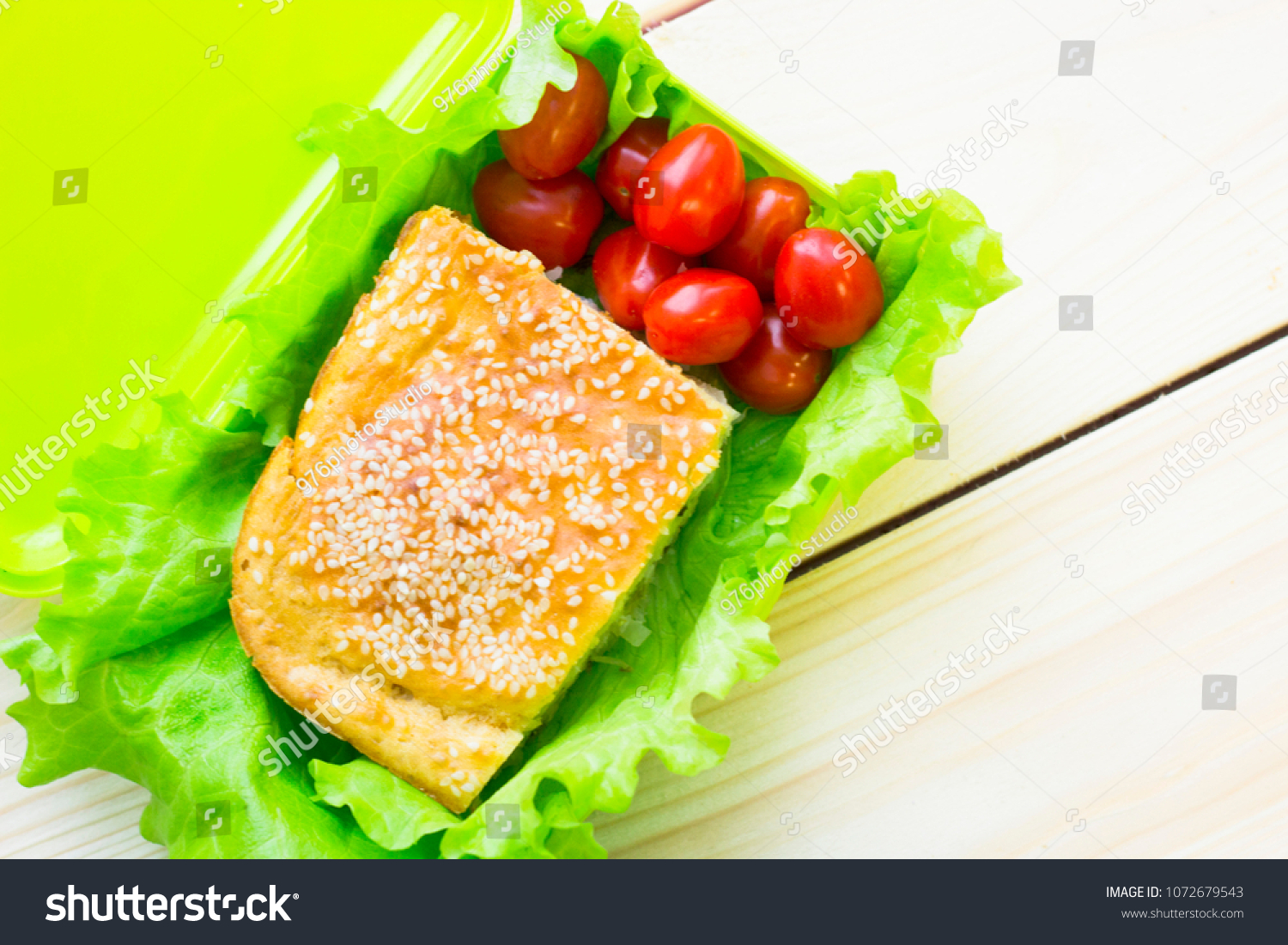 Lunch In A Box Healthy Lunch Box Stock Photo Edit Now 1072679543 Shutterstock