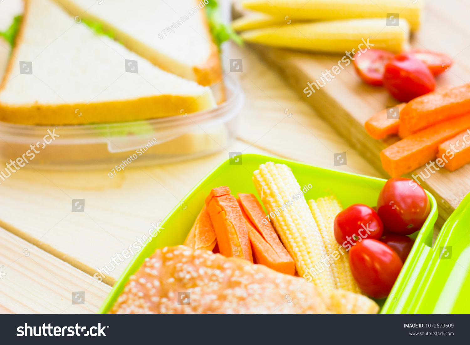 Lunch In A Box Healthy Lunch Box Stock Photo Edit Now 1072679609 Shutterstock