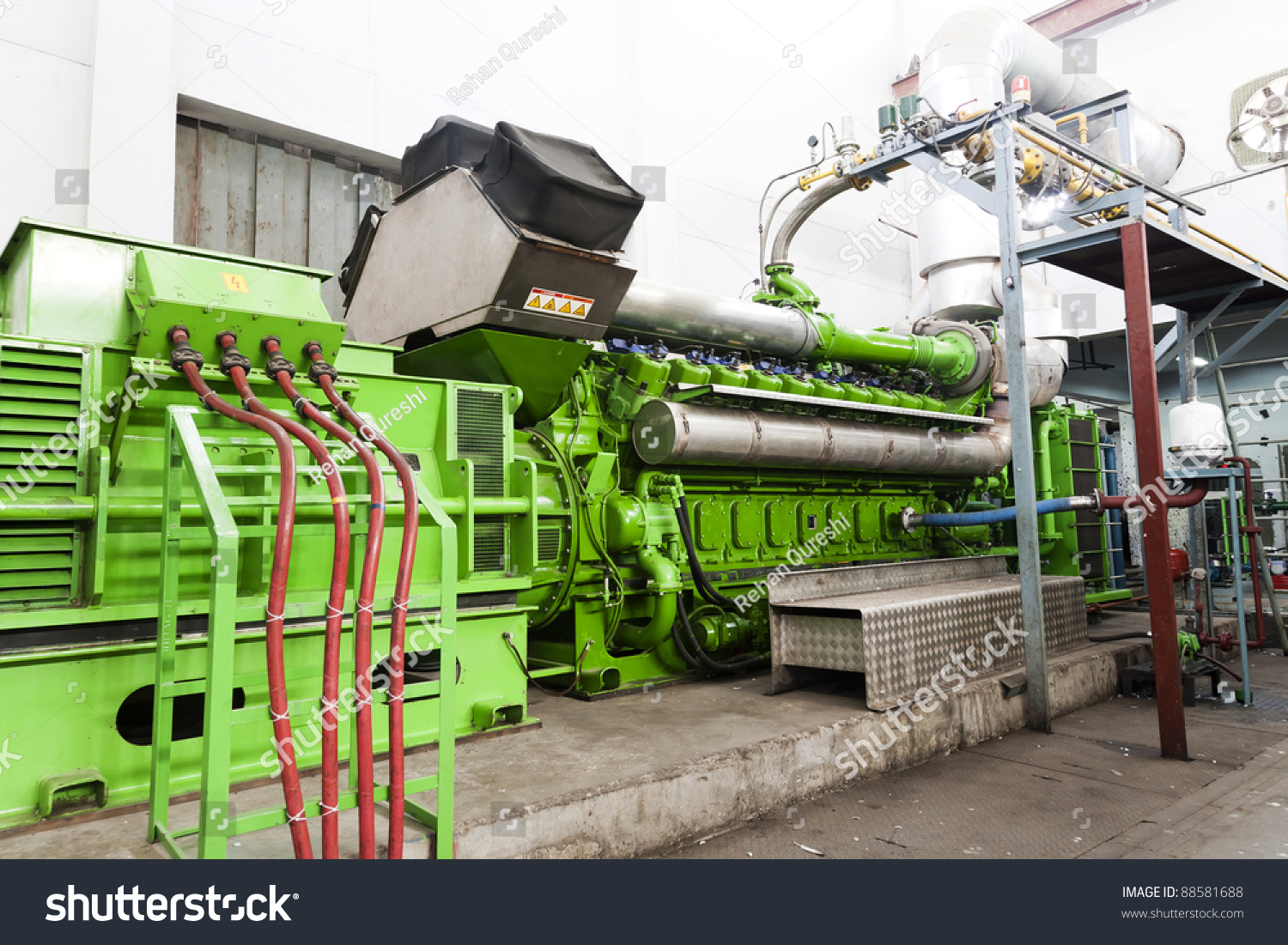 Diesel Generator Canada High Voltage Industrial Standby Diesel Generator Stock Photo Edit