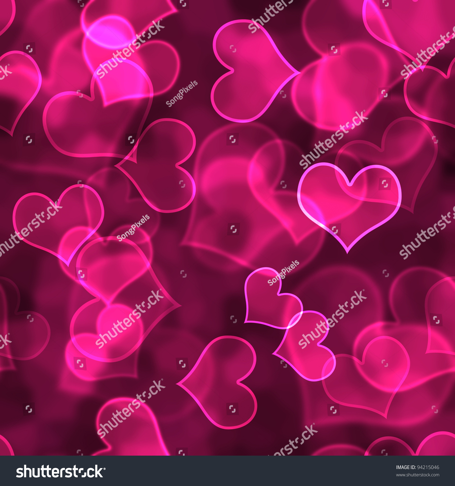 Cute Girly Skull Wallpapers Hot Pink Heart Background Wallpaper Stock Photo 94215046