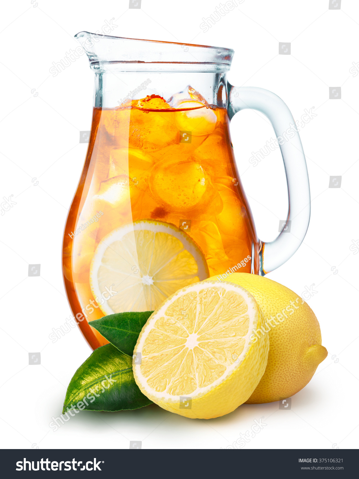 Pitchers Jugs Iced Tea Pitcher Jug Full Iced Stock Photo Edit Now 375106321