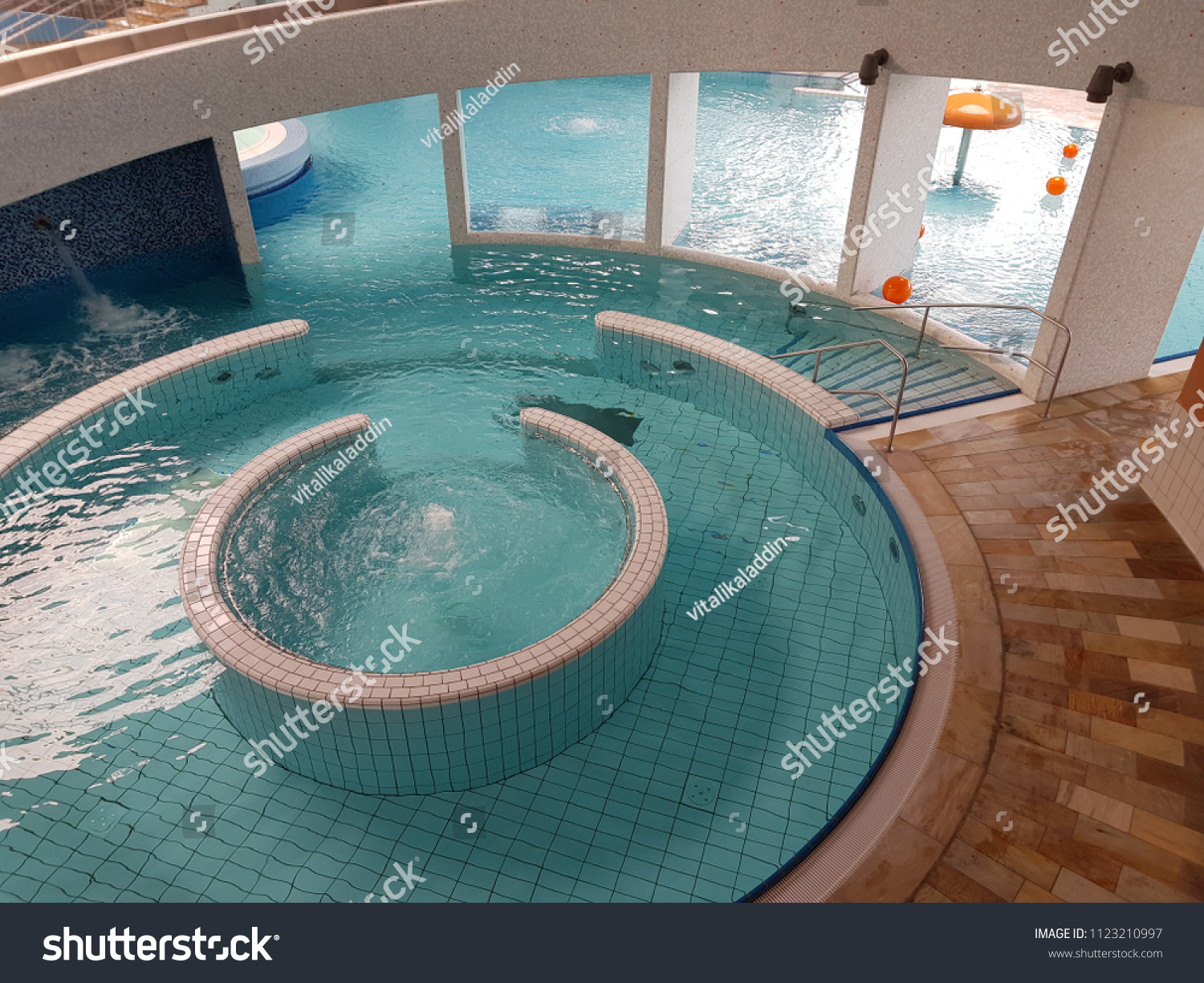 Jacuzzi With Swimming Pool Indoor Swimming Pool Jacuzzi On Resort Stock Photo Edit Now