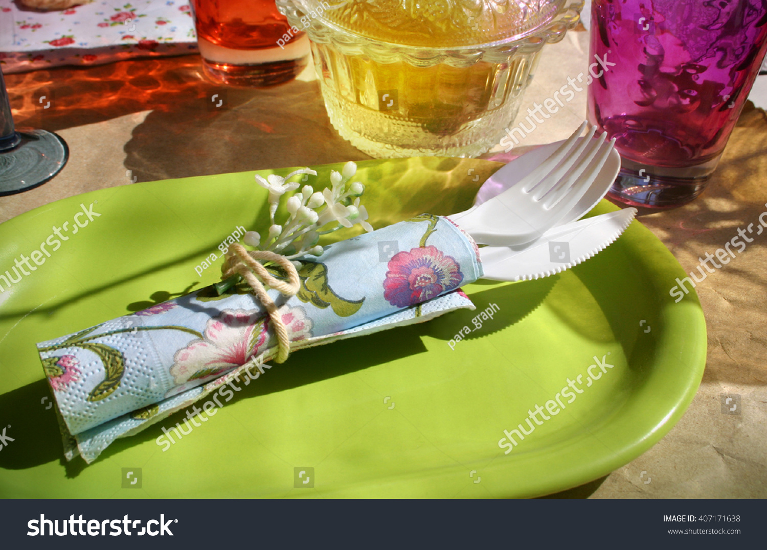Picnic Decor Inspirational Picnic Table Decoration Decor Ideas Stock Photo