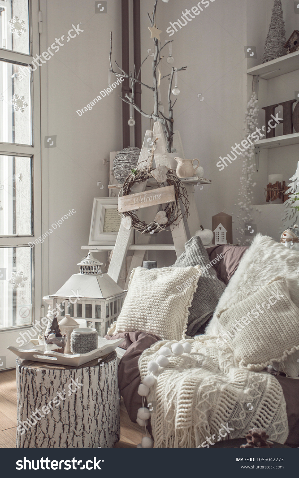 Shabby Look Interior Decoration White Shabby Look Stock Photo Edit Now