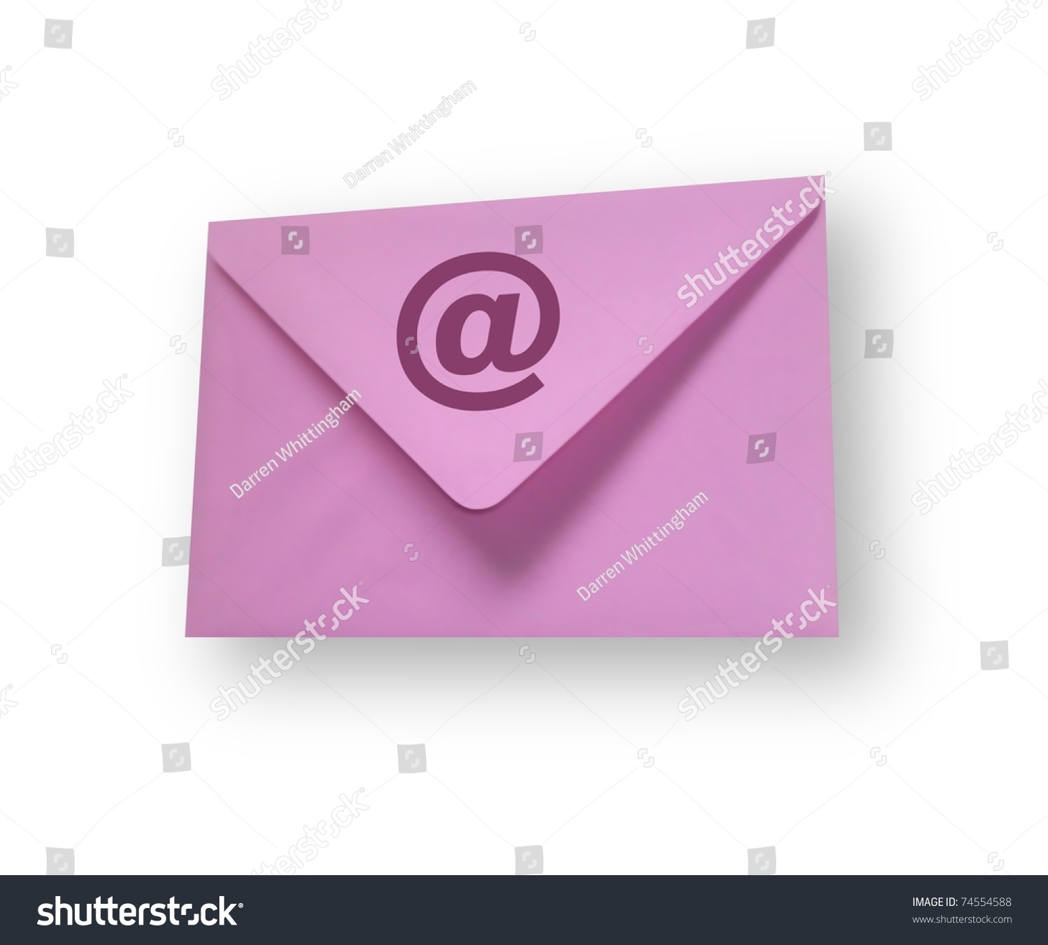 Email Icon Isolated On Special Yellow Square Button Abstract Isolated Pink Envelope Email Symbol On Stock Illustration