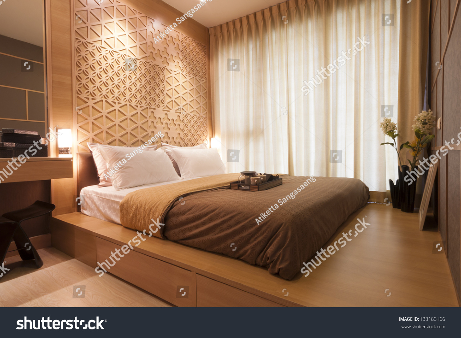 Japanese Bedrooms Style Japanese Style Bedroom Tea Set Stock Photo 133183166