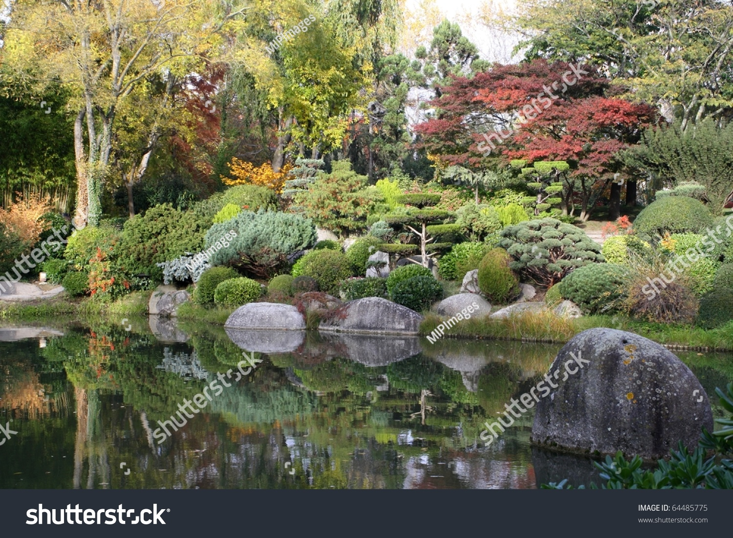 Photo De Jardin Japonais Jardin Japonais De Toulouse Stock Photo 64485775