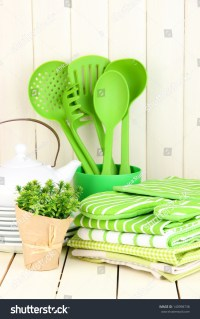 Kitchen Settings: Utensil, Potholders, Towels And Else On ...