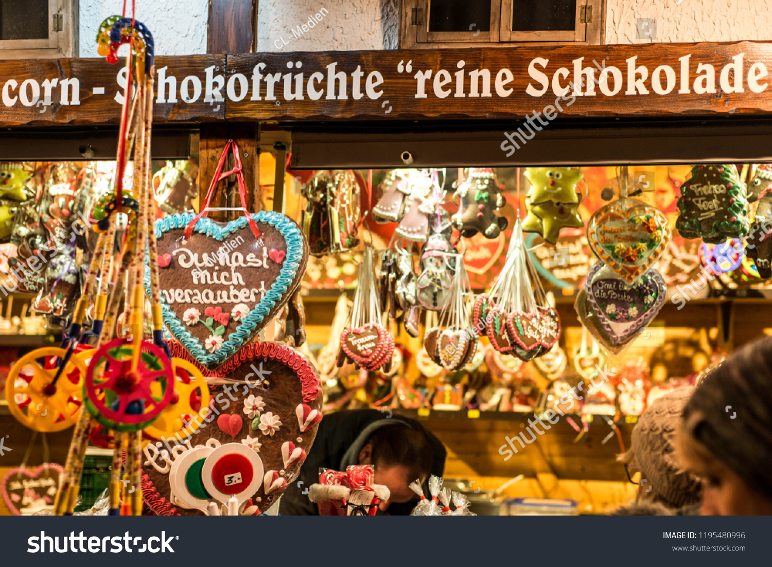 Copy Shop Koblenz Koblenz Germany 16122017 Christmas Market Old Stock Photo Edit