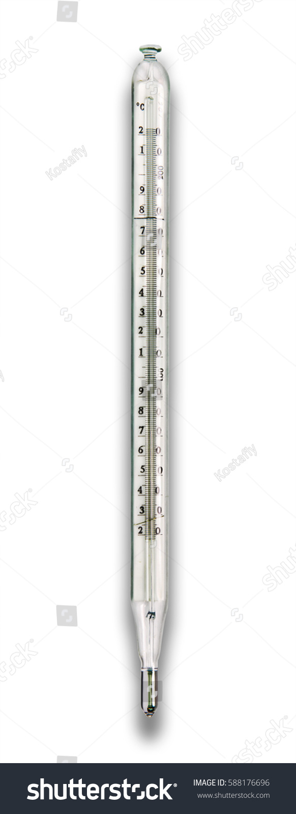 Thermometer Laboratory Apparatus Laboratory Thermometer Scale 220 Degrees Celsius Stock Photo Edit
