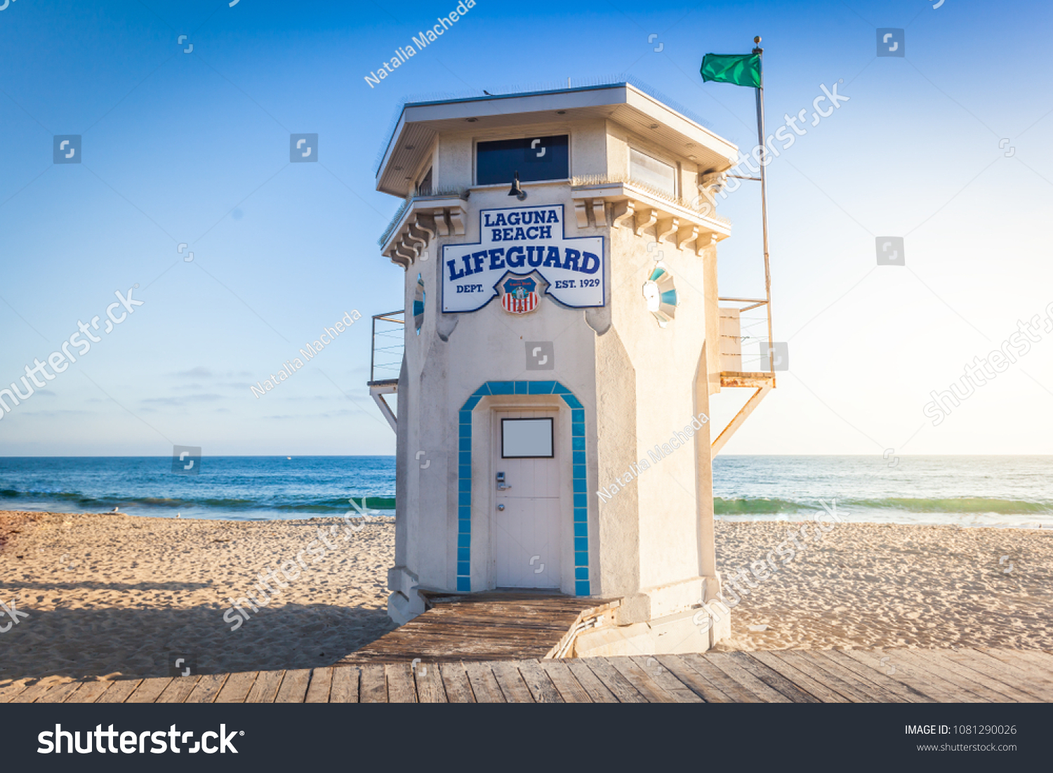 Shabby Chic Cuxhaven Laguna Beach Lifeguard Tower Sunset Light Stock Photo Edit Now