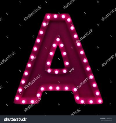 Letter Neon Lights Isolated On Black Stock Illustration 118203673 - Shutterstock
