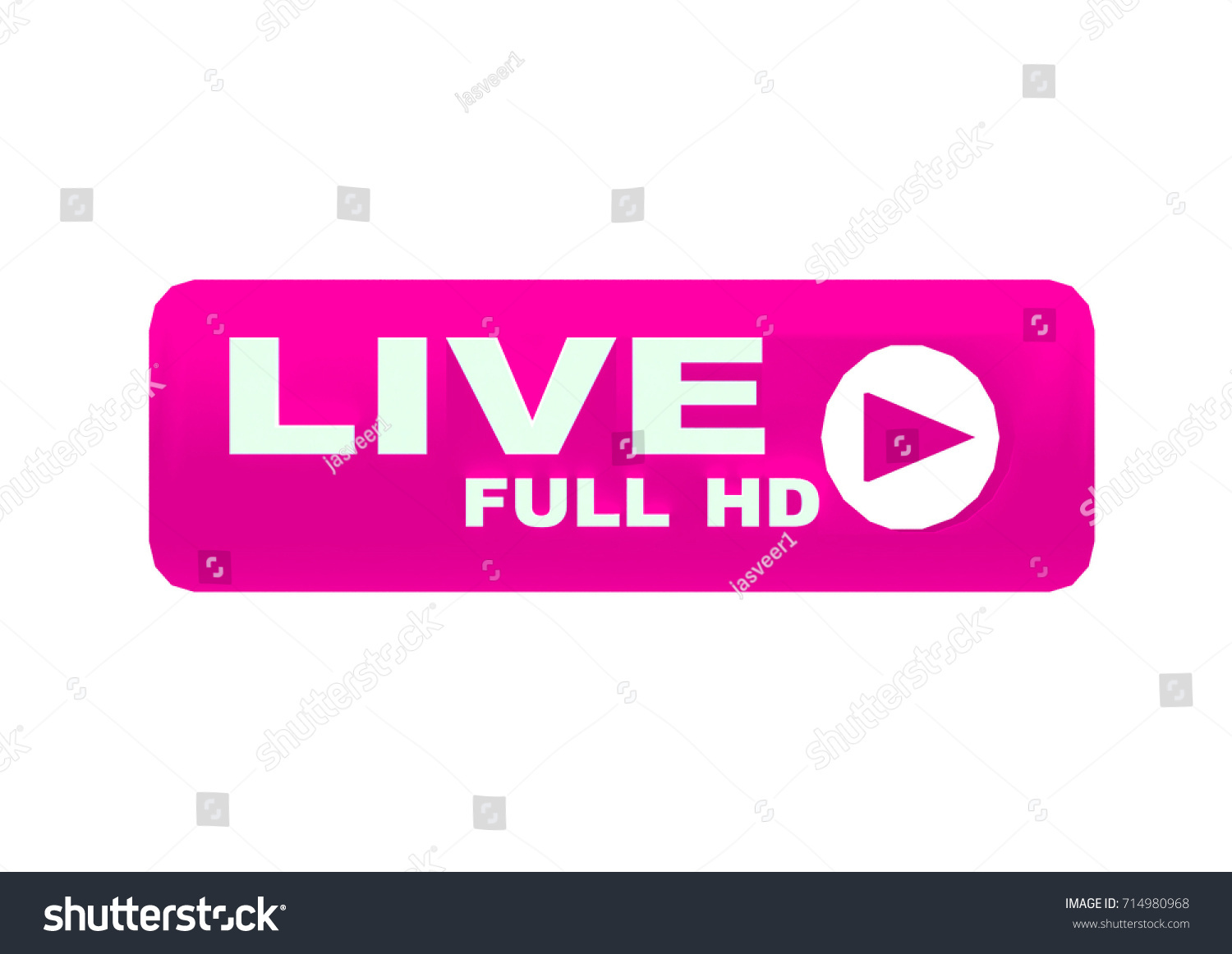 Pink Tv Online Live Streaming Icon Badgelive Broadcasting Online Tv Stock