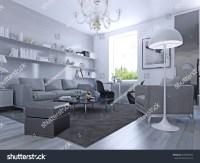 Living Room Modern Style Elegant Living Stock Illustration ...