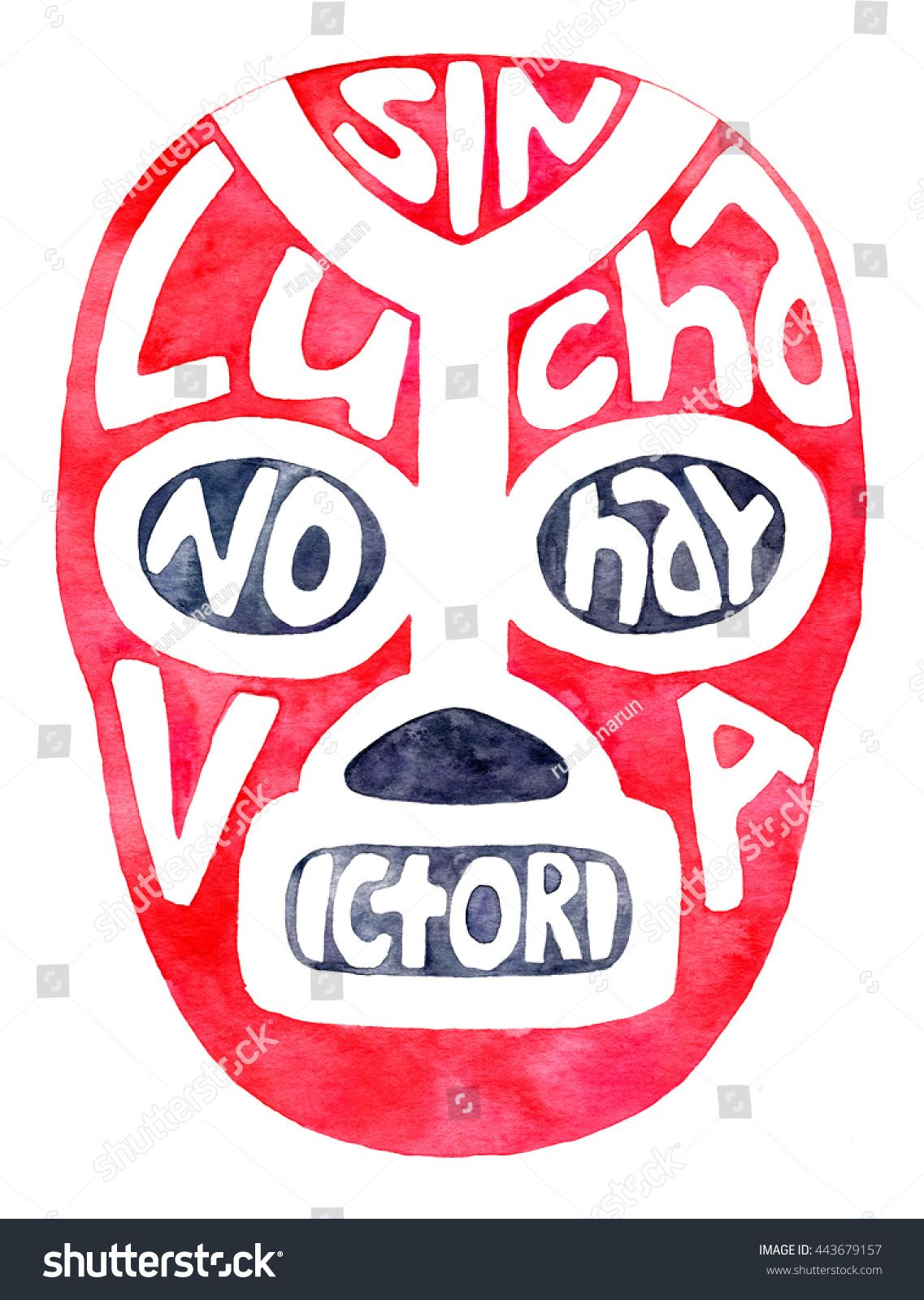 Lucha Libre Real Luchador Fighter Mask Handdrawn Lucha Libre Stock