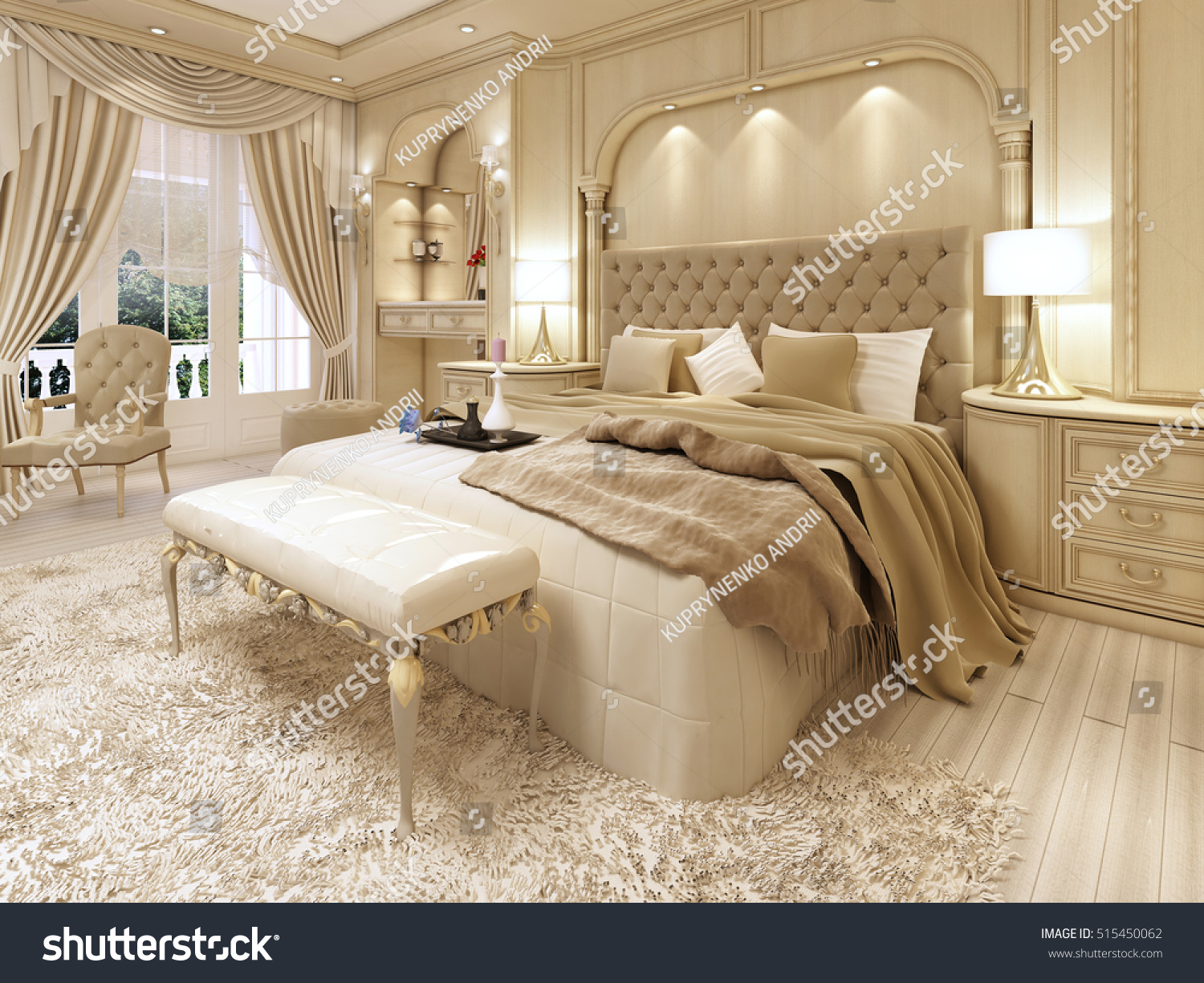 Dressing A Bed Royalty Free Stock Illustration Of Luxury Bed Large Neoclassical