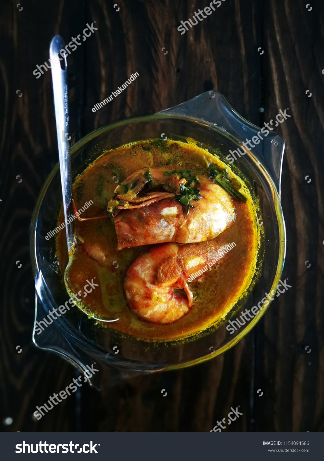 Background Masak Malaysian Food Yellowish Gravy Sauce Prawn Stock Photo Edit Now