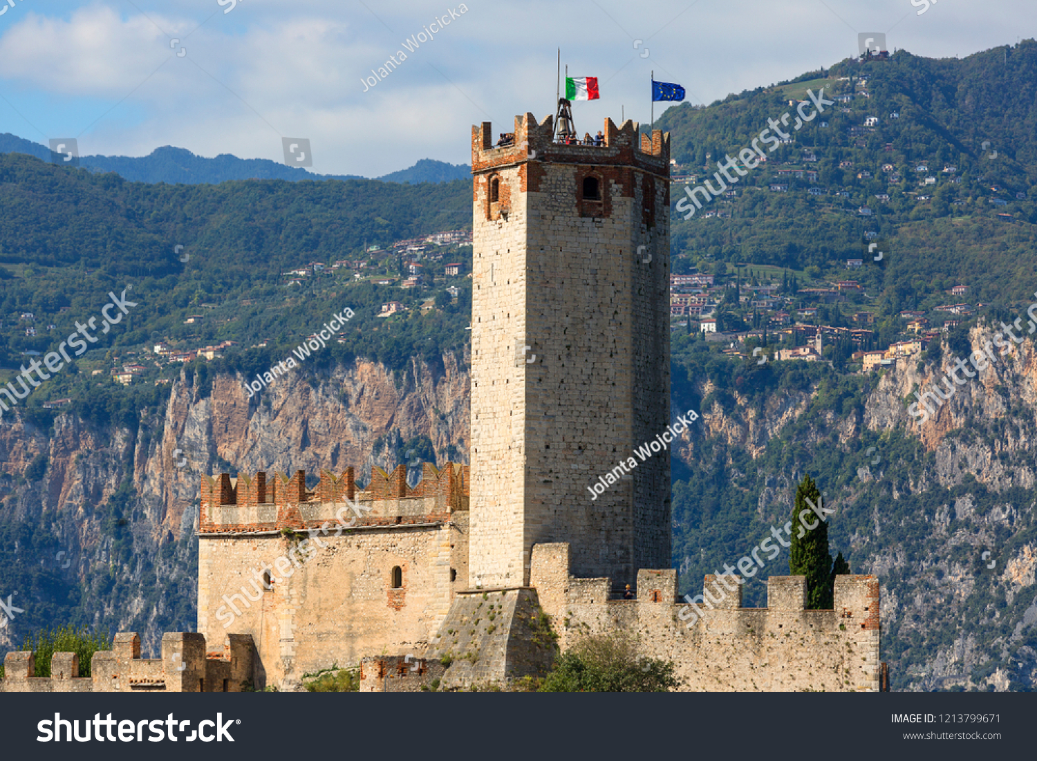 Caminetto Malcesine Malcesine Italy September 30 2018 13 Thcentury Stock Photo Edit