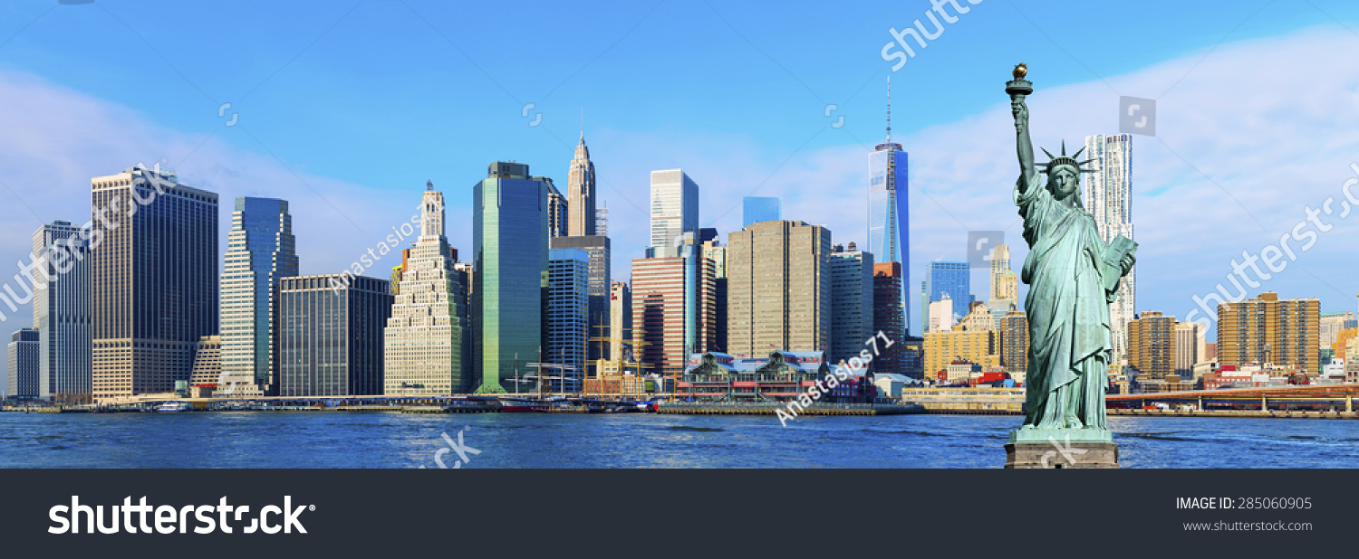 New York Bilder Manhattan Skyline New York City Stock Photo Edit Now 285060905