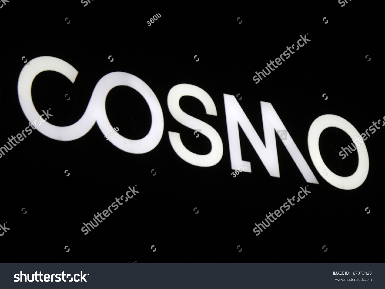 Cosmo Berlin March 28 2014 Berlin Logo Brand Stock Photo Edit Now 187373420