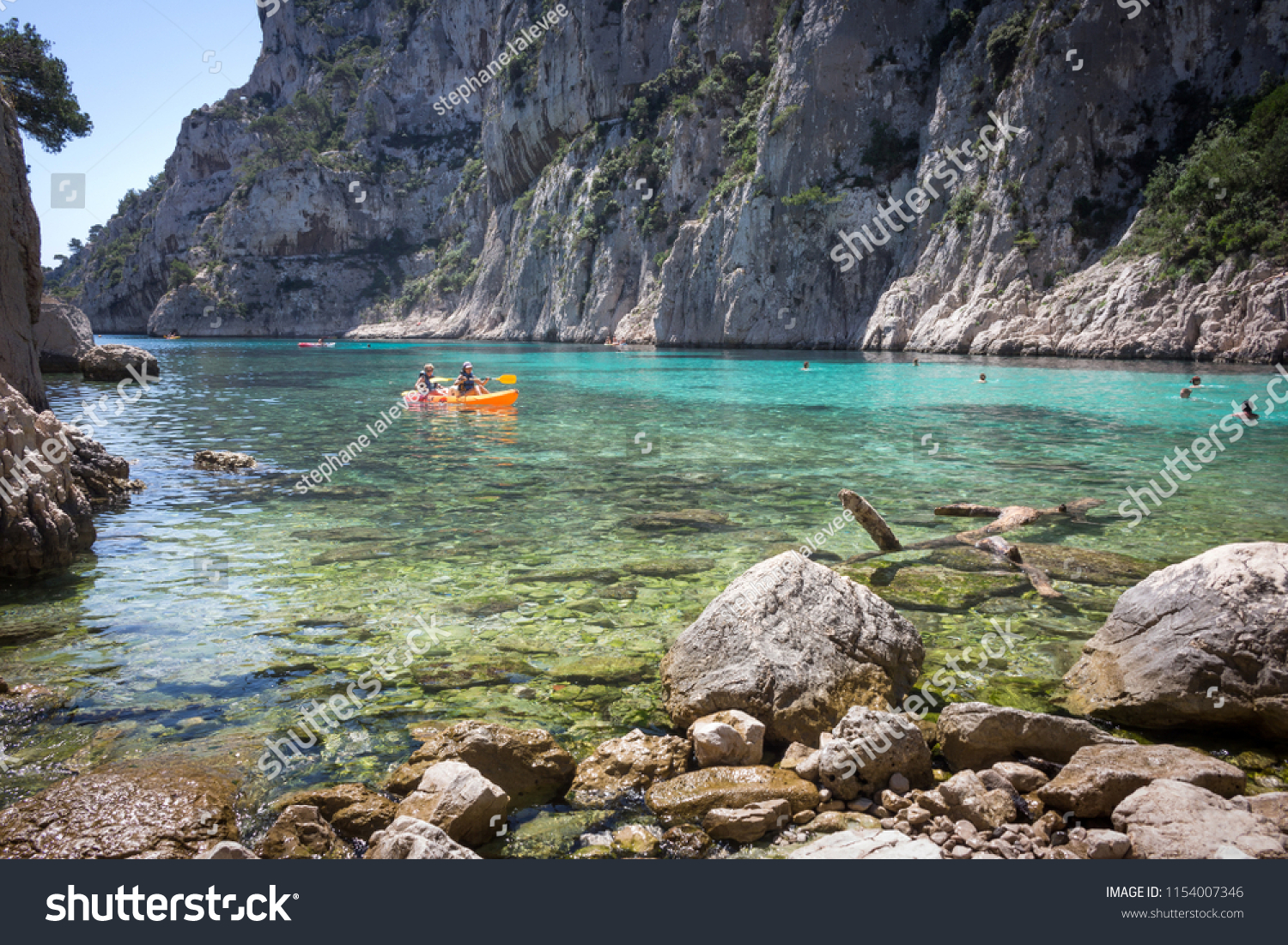 Location Canoe Cassis Marseille Provence France June 16 2017 Stock Photo Edit Now